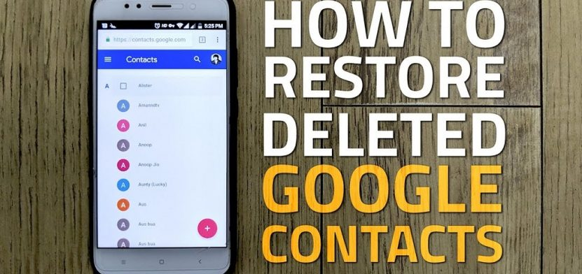 Recover deleted contacts from google