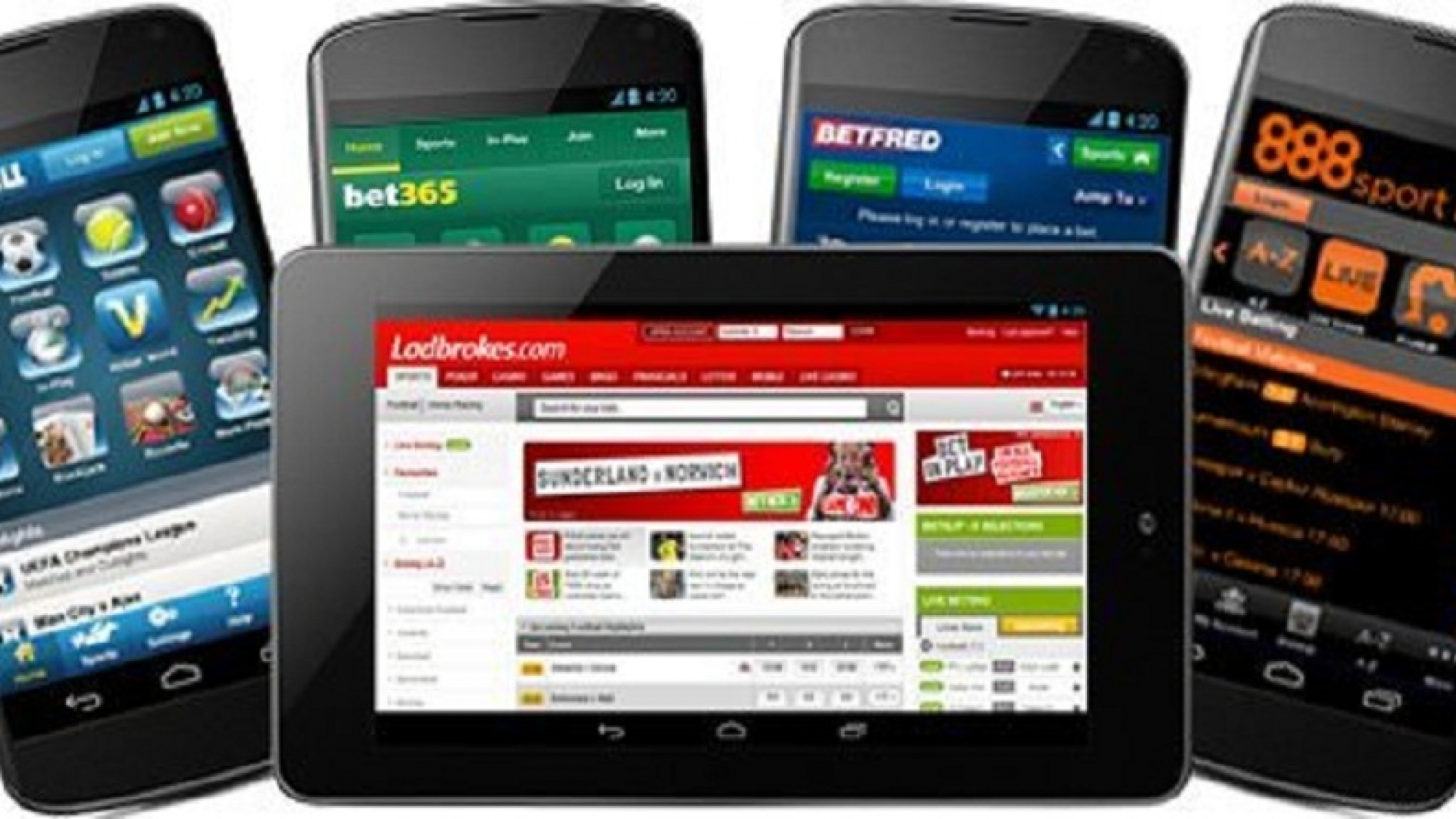 Online betting on Smartphones and Tablets