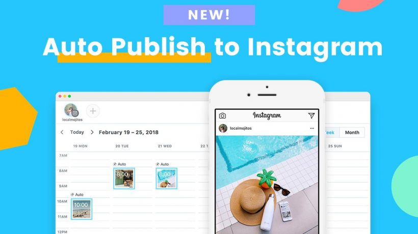 How to schedule instagram posts automatically