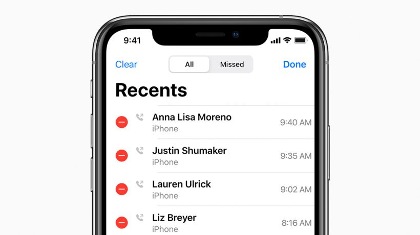 How to view call history on iphone from a month ago?