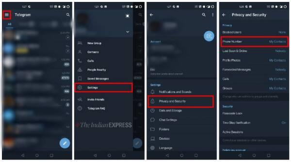 Telegram hide phone number tricks