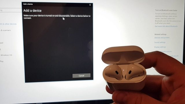 How to connect airpods to windows laptop